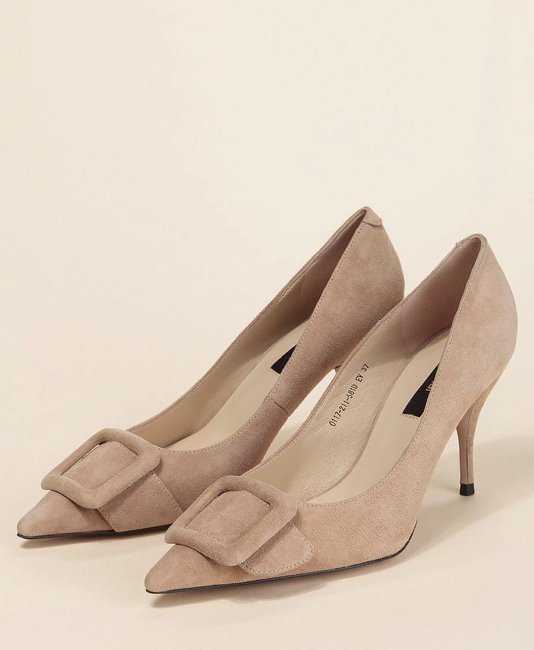 Дамски обувки на ток eстествена кожа